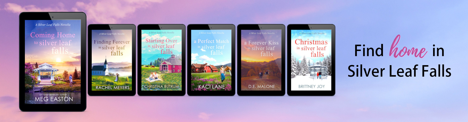 Covers for all Silver Leaf Falls Novellas
